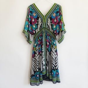 Bisou Bisou dress blue green size 20W